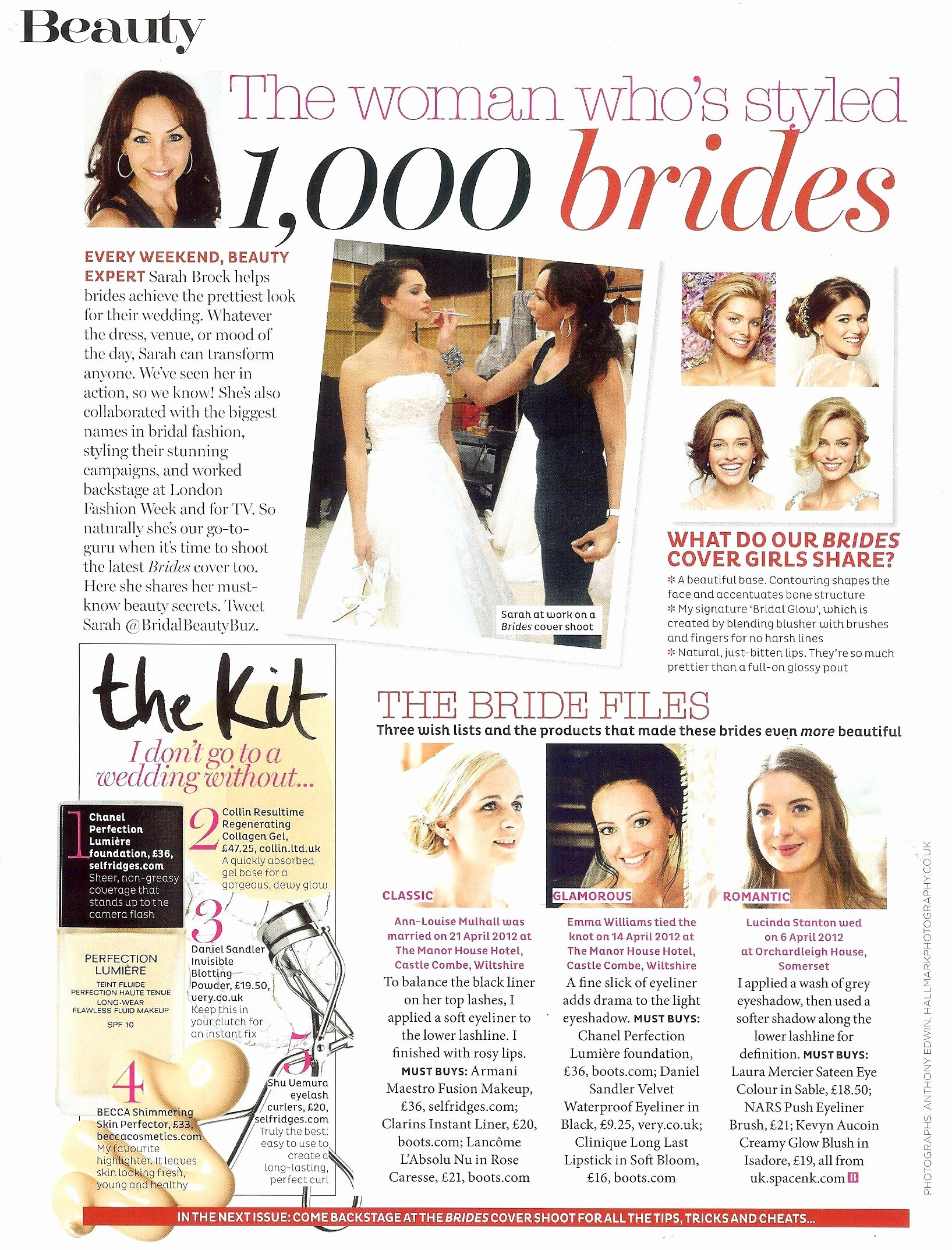 About Sarah Sarah Brock Multi Award Winning top Bridal