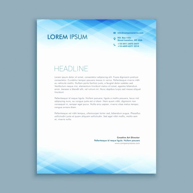 Abstract Business Letterhead Template Vector