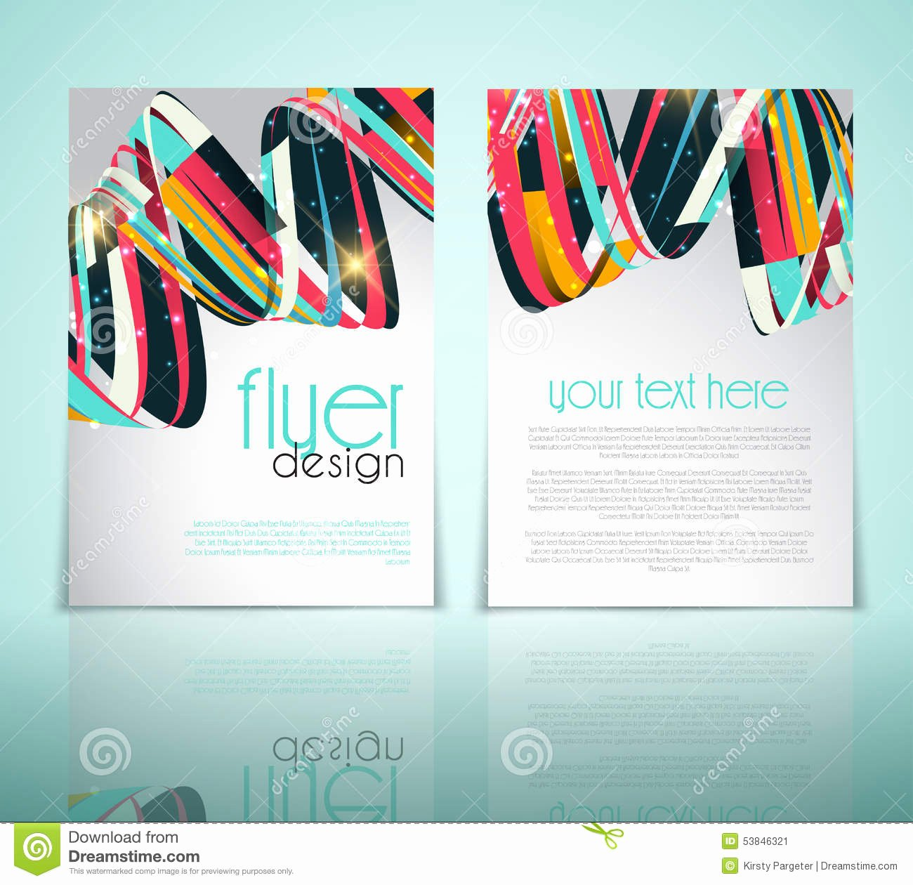 Abstract Flyer Design Stock Vector Image