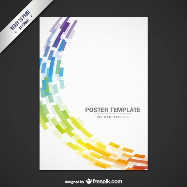 Abstract Flyer Template Free Vector Graphics