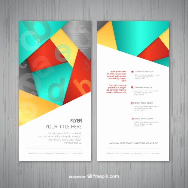 Abstract Flyer Template Vector