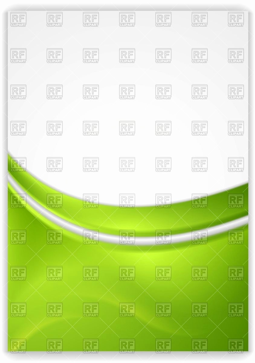 Abstract Green Wavy Background Flyer Template Vector