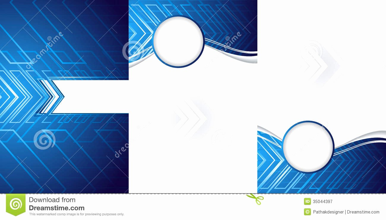 Abstract Tri Fold Brochure Template Stock Vector Image