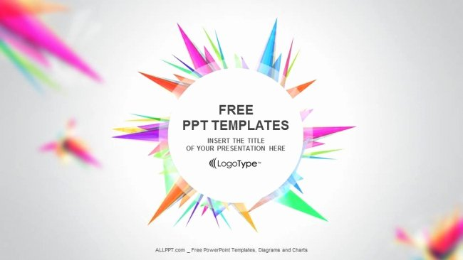 abstract triangle ppt templates