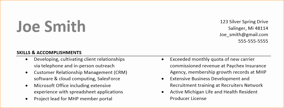Ac Plishments On A Resume Business Proposal Templated