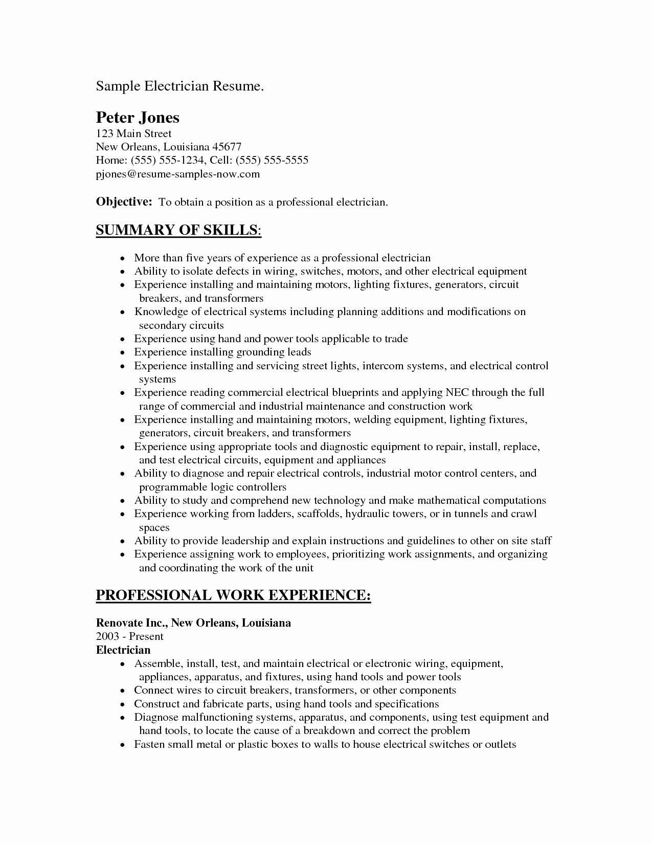 Ac Technician Resume Model Beautiful Hvac Resume Samples