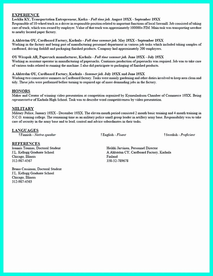 Academic Resume Inspiredshares Current College Student
