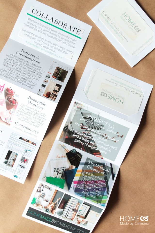 Accordion Fold Business Card Template