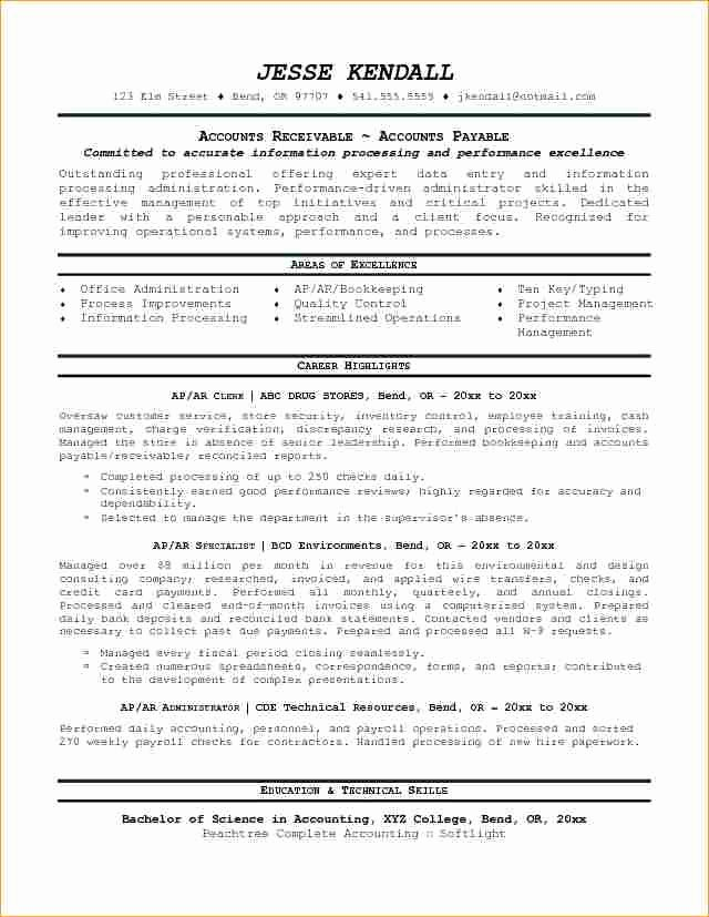 Account Payable Resume Sample Business Proposal