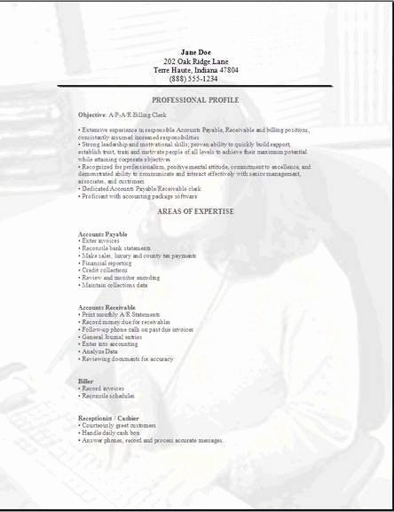 Accountant Clerk Resume Examples Samples Free Edit with Word
