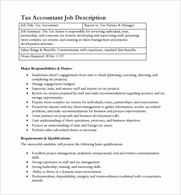 Accountant Job Description for Resume Defenddissertation