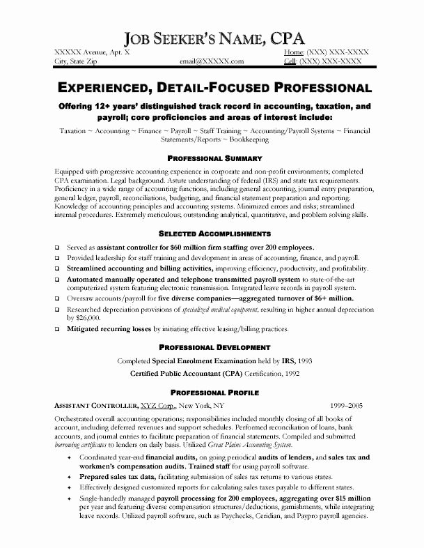 accountant resume sample
