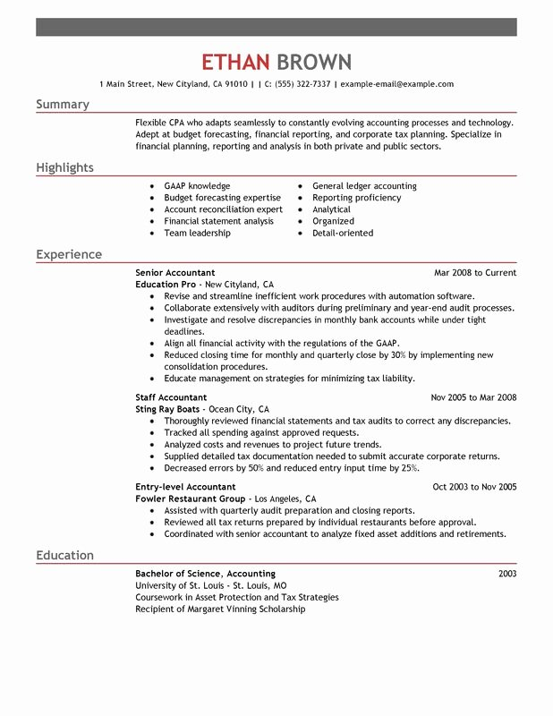 Accountant Resume Examples Created by Pros