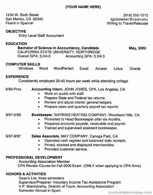 Accountant Resume Skills Best Resume Gallery