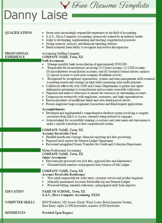 Accounting Resume Examples ⋆ Best Accountant Templates