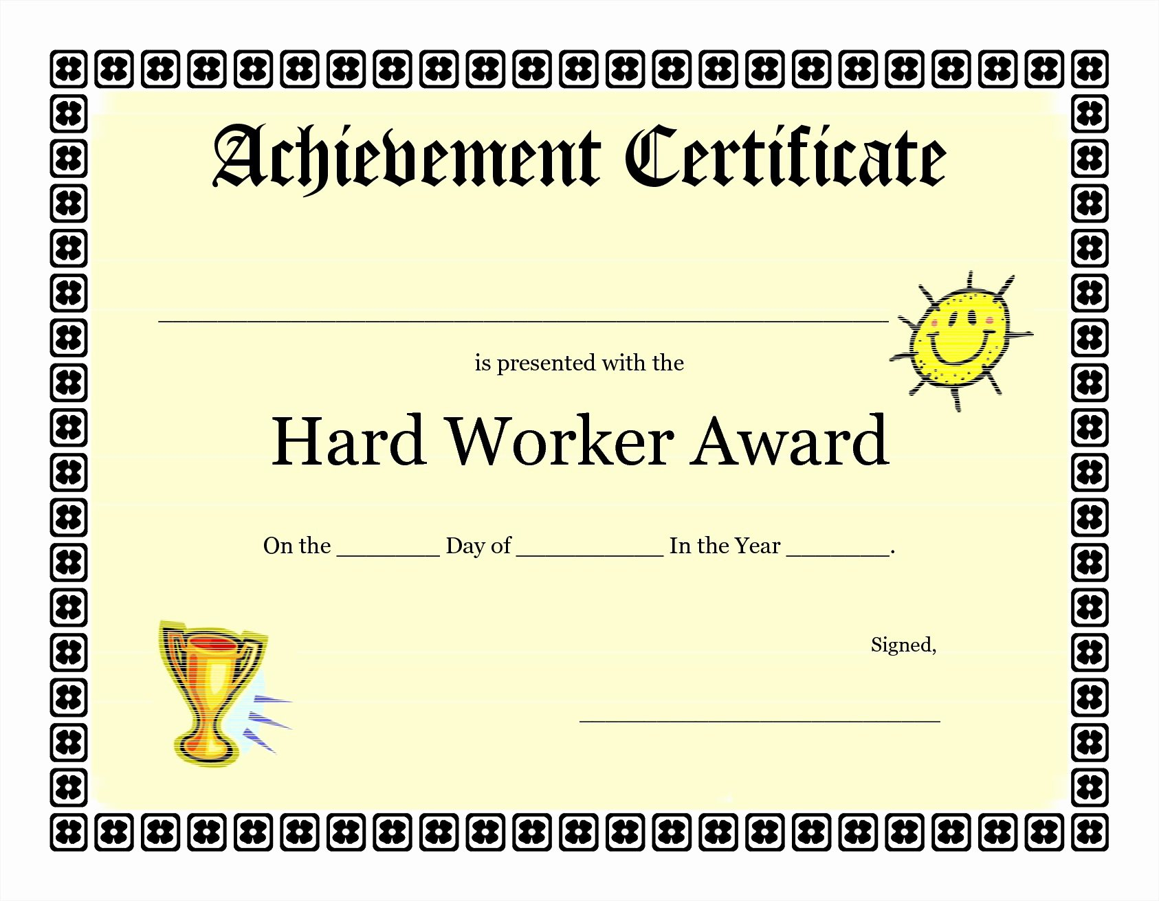 Achievement Certificate Templates Free Mughals