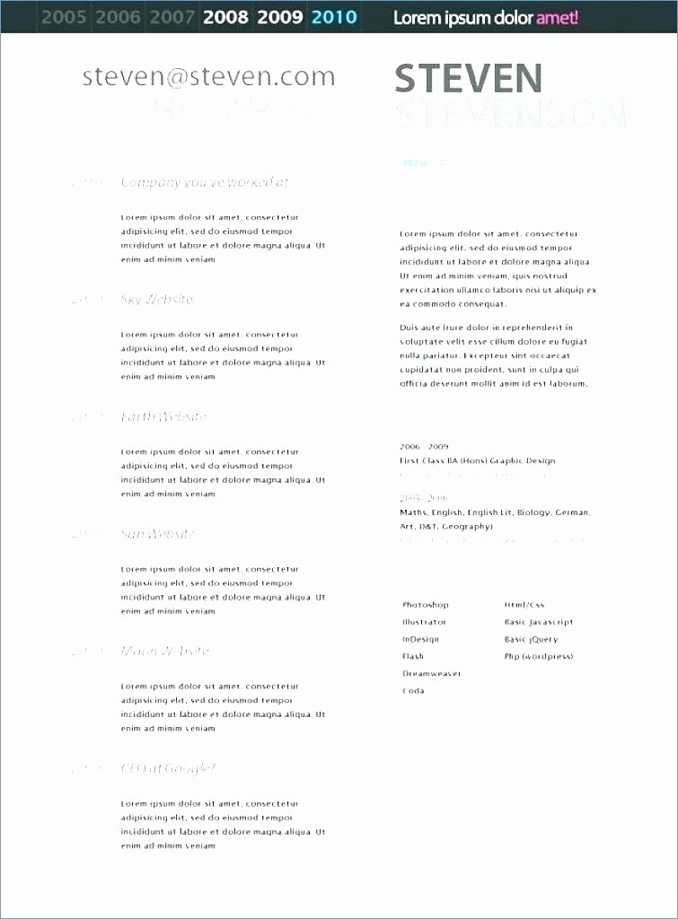 Acting Resume Template Google Docs Modern Resume Template