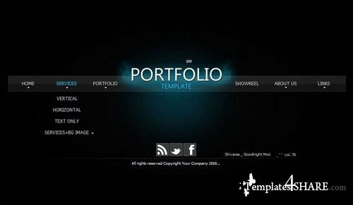 Activeden Dark Portfolio Flash Template