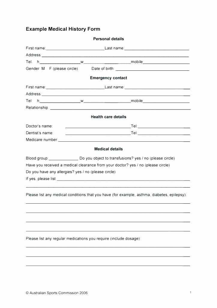 Acupuncture Intake form Template Unique Patient Note