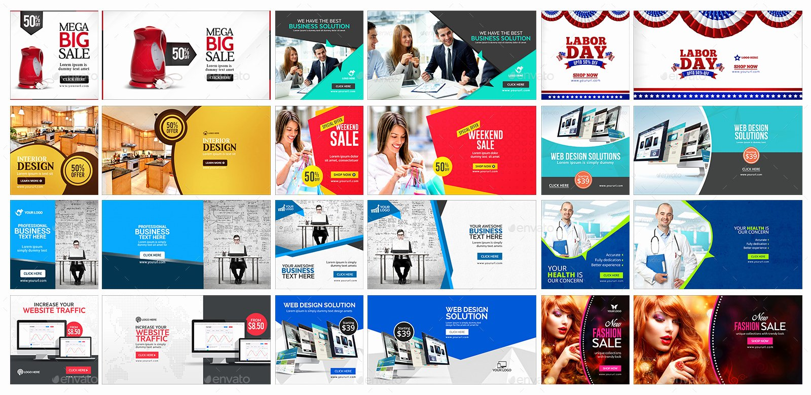 Ad Banners Vol 6 50 Designs by Doto