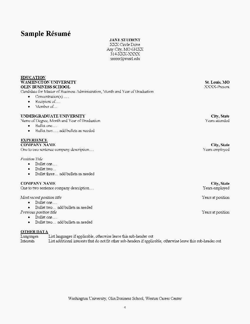 Adding Languages to Resume Resume Template