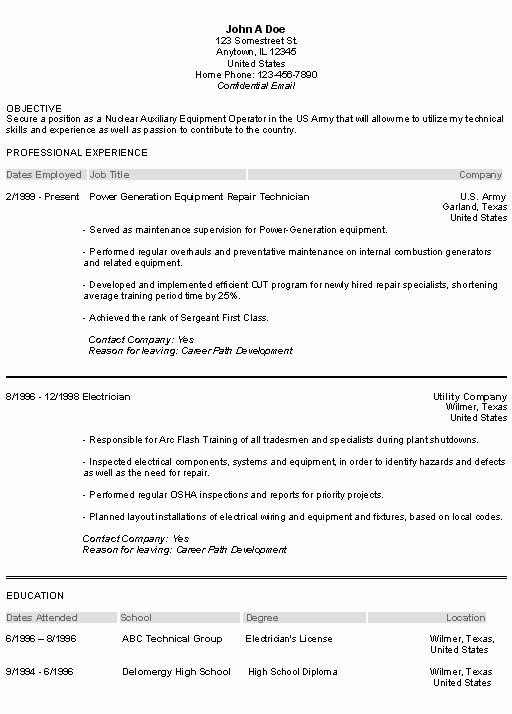 Adding Military Experience to Resume Best Resume Gallery