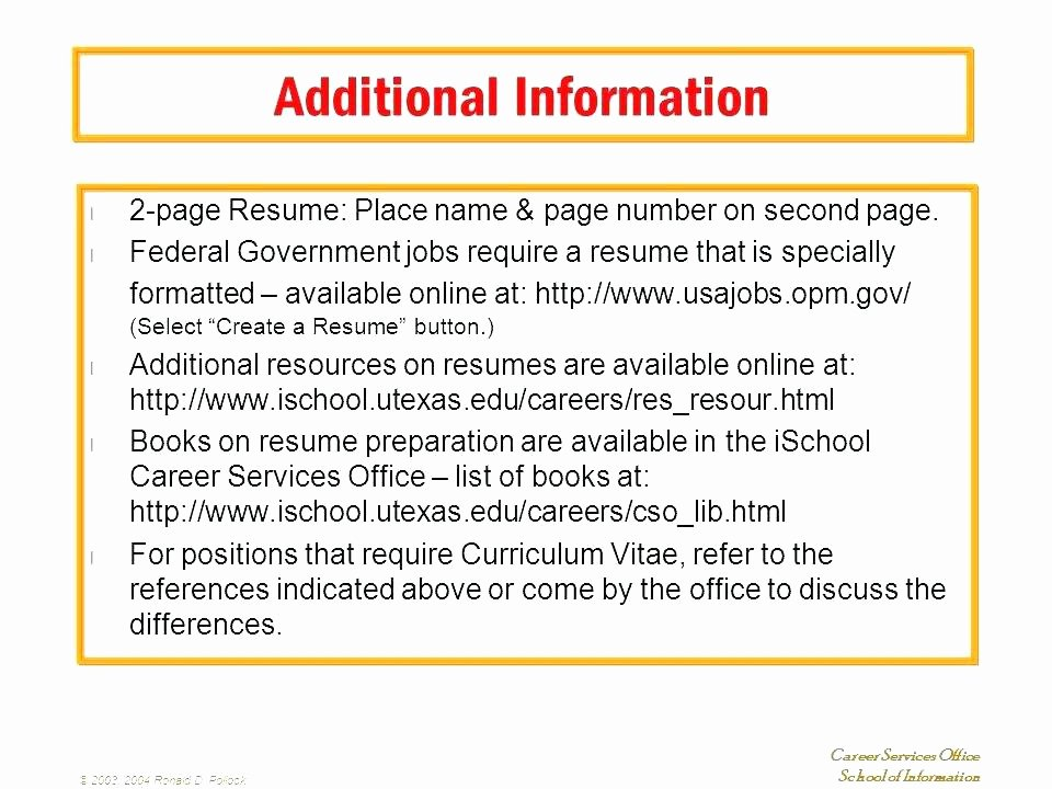 Additional Information Resume Examples as Easychessfo