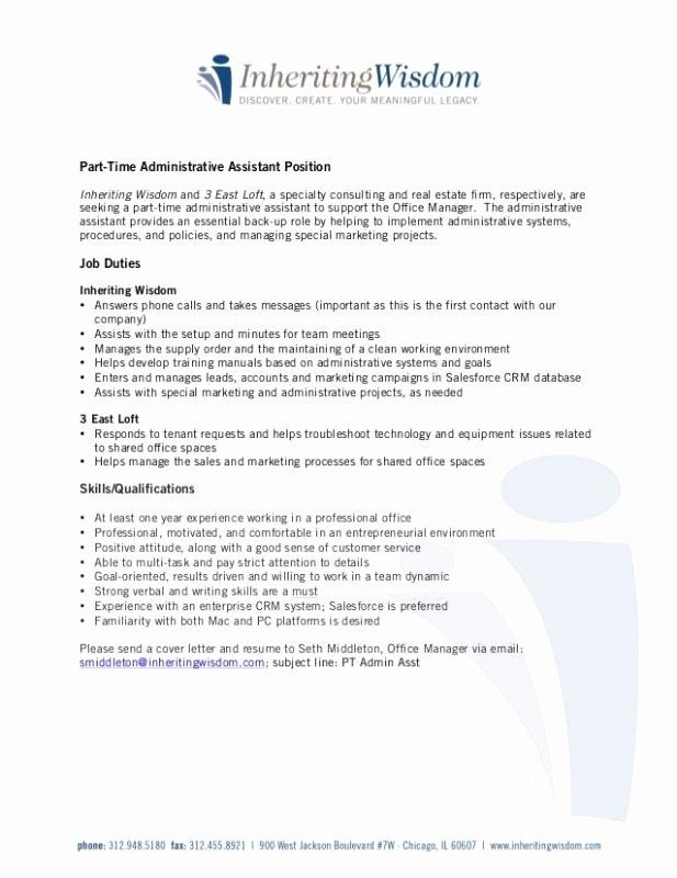 Admin assistant Job Description Resume
