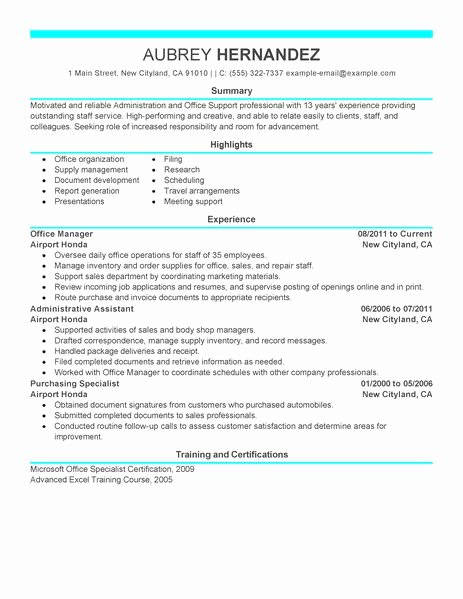 Admin Resume Examples Admin Sample Resumes