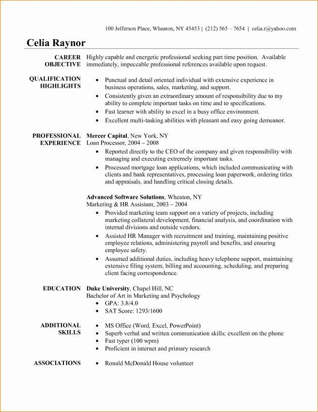 Administrative assistant Objective Sample Resume Sample