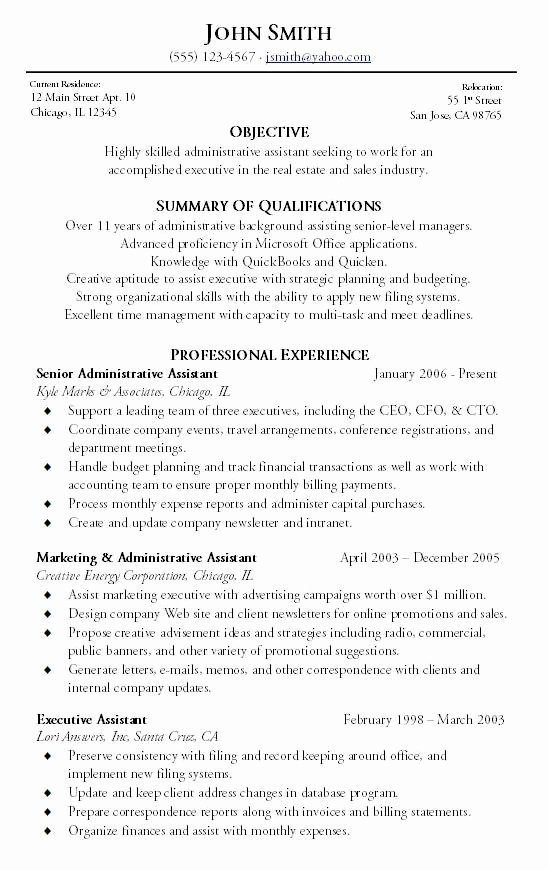 Administrative assistant Resume Career Summary