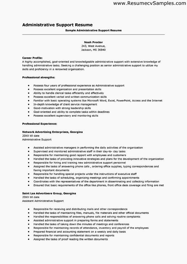 Administrative assistant Resume Key Words