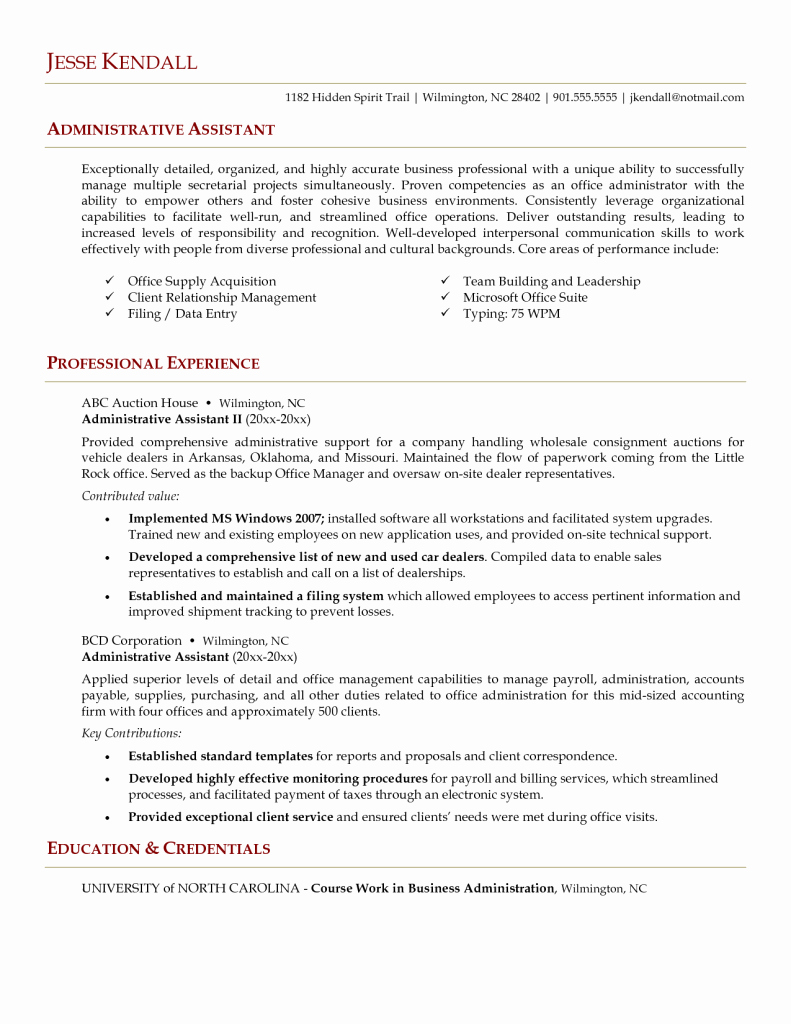 Administrative assistant Resume Resume Cv Example Template