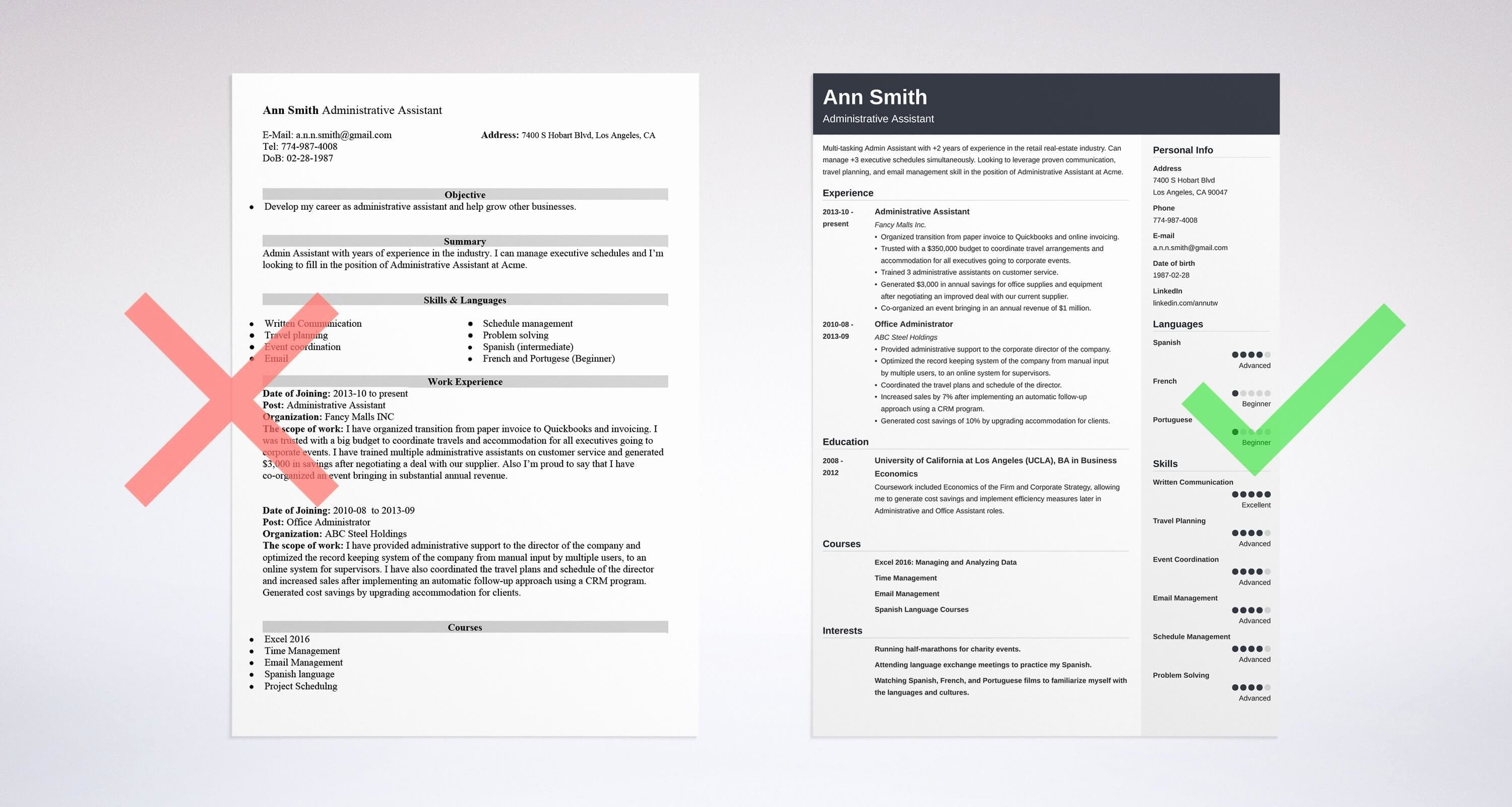Administrative assistant Resume Sample & Guide 20 Examples