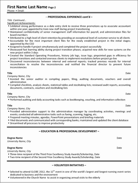 Administrative assistant Resume Sample & Template