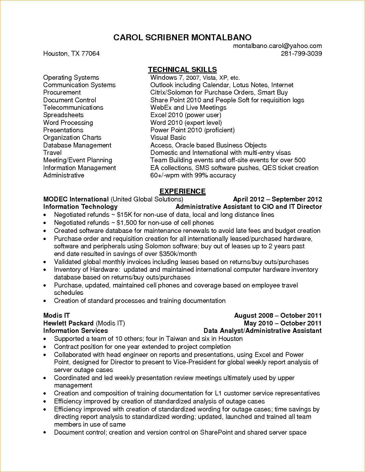 Administrative assistant Skills Business Proposal