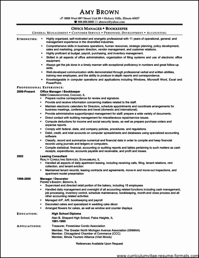 Administrative Fice Manager Resume Free Samples