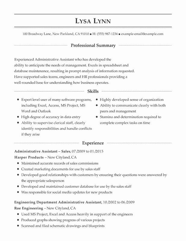 Administrative Support Bination Resume Resume Help