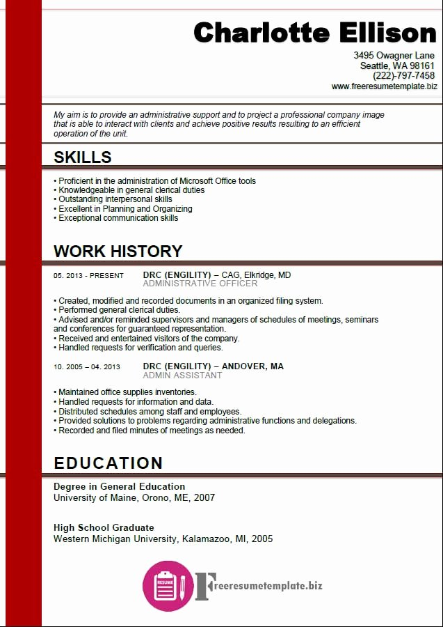 Administrator assistant Resume