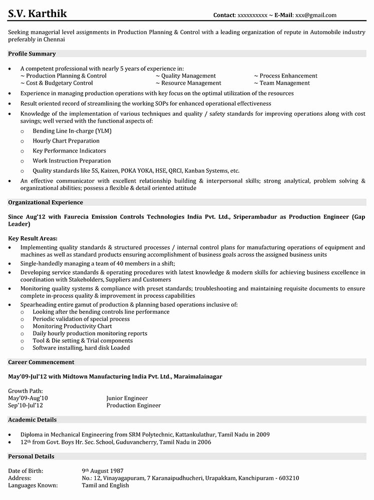 Admirable Production assistant Resume