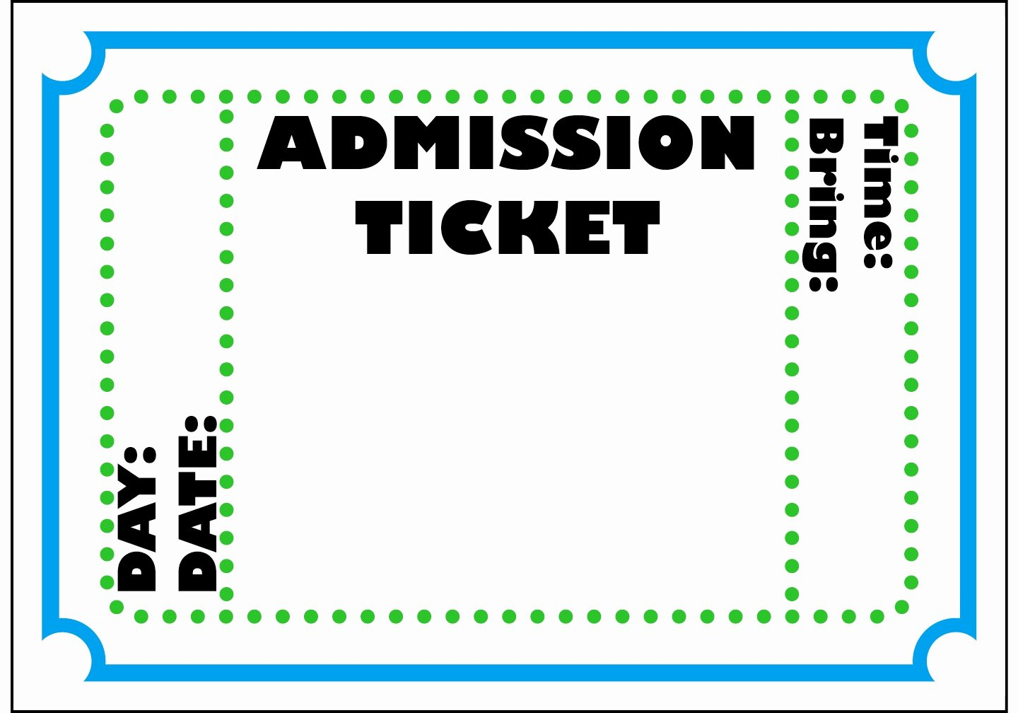 Admit E Ticket Template Example Mughals