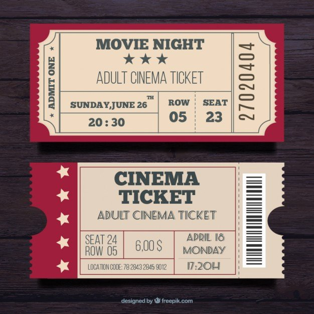 Admit E Ticket Vectors S and Psd Files