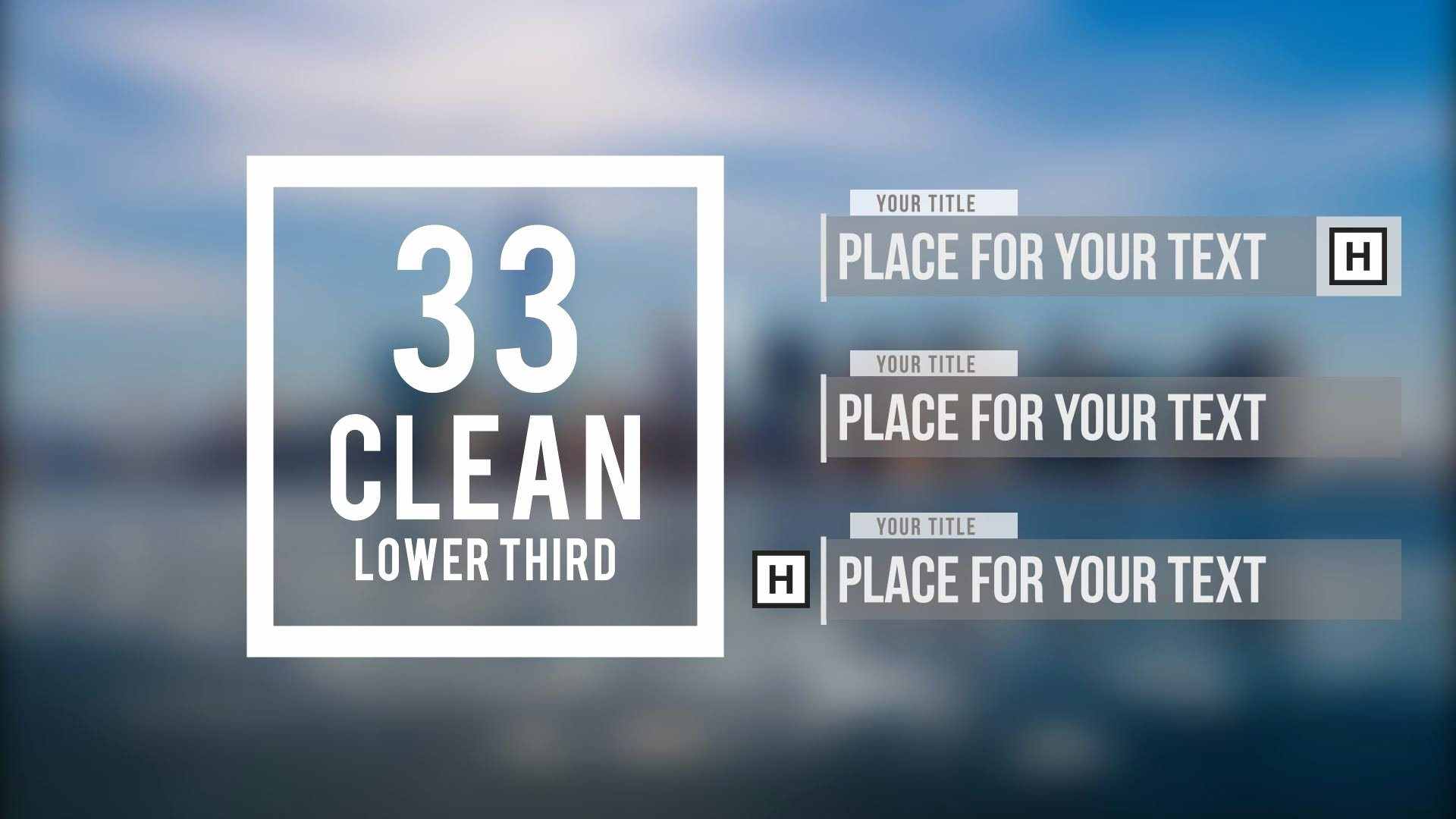Adobe after Effects 33 Clean Lower Third Free Template