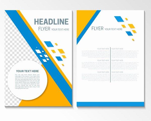 Adobe Illustrator Flyer Template Free Vector