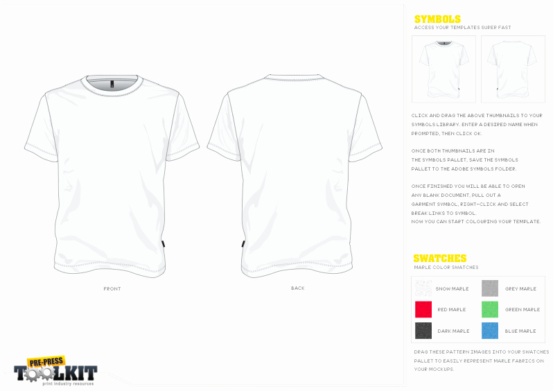 Adobe Illustrator T Shirt Template Download Templates Data