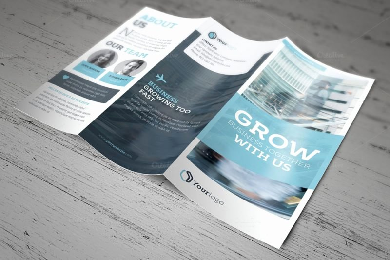 Adobe Indesign Tri Fold Brochure Template Best Agenda