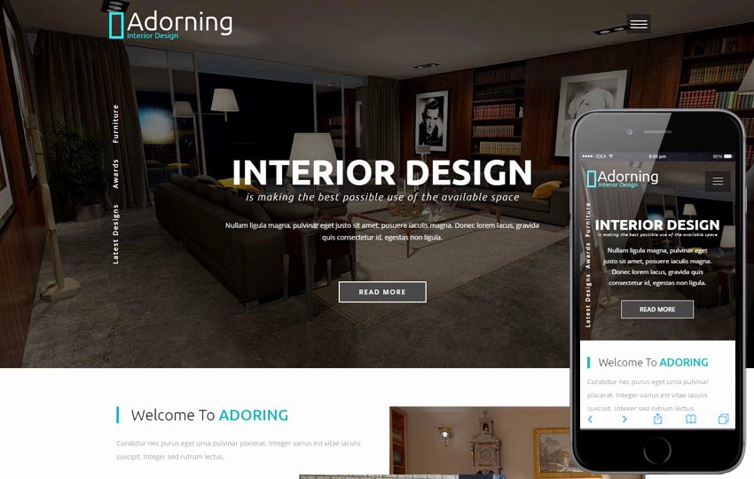 Adorning An Interior and Furniture Category Bootstrap