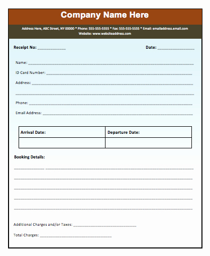Advance Booking Receipt Template Microsoft Word Templates