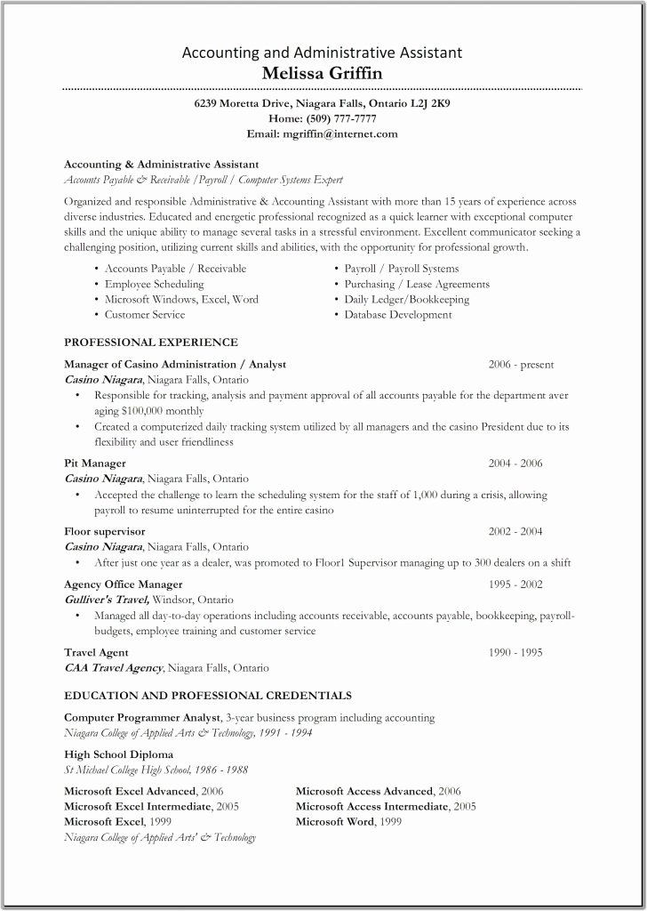 Advanced Excel Skills Resume Advanced Excel Skills Resume