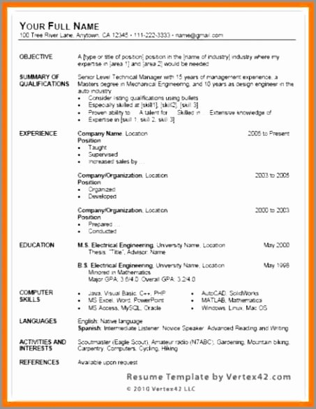 Advanced Excel Skills Resume Resume Microsoft Word Excel